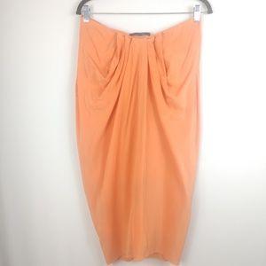 BCBGMaxAzria Dresses - BCBGMaxAzria Strapless Dress 100% Silk